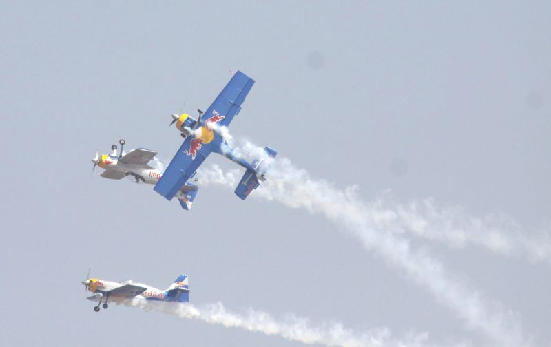 A major accident was averted during the Aero India-2015 Air Show after two aeroplanes came dangerously close at Yelahanka Air-force Station, in Bengaluru on Feb 19, 2015.