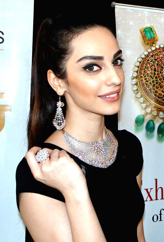 A model showcases jewellery collection during a jewellery fashion show in Bengaluru on Feb. 2, 2015.