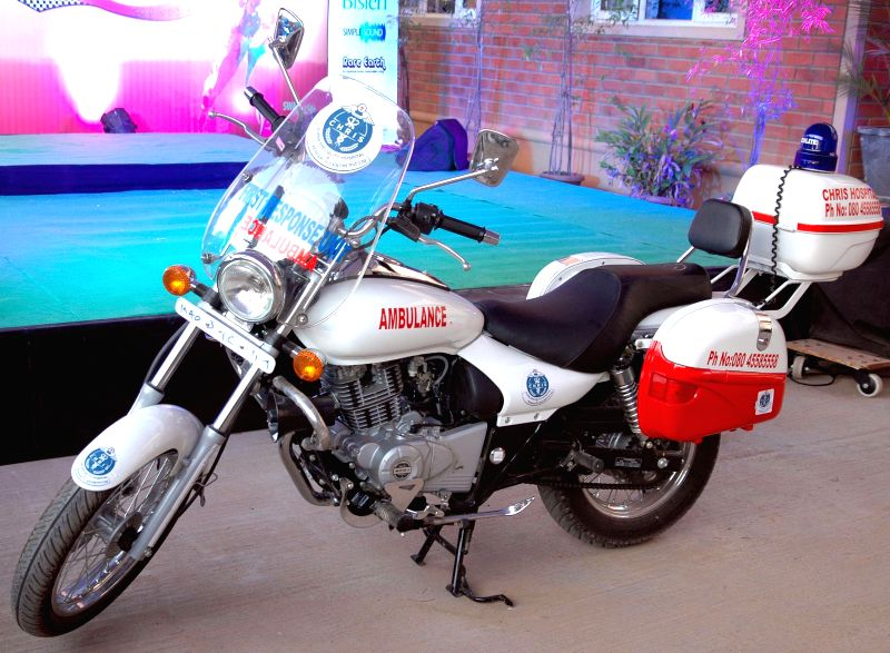 A newly launched `Mobike Ambulance` at Kotthanuru in Bengaluru on Feb 21, 2015.