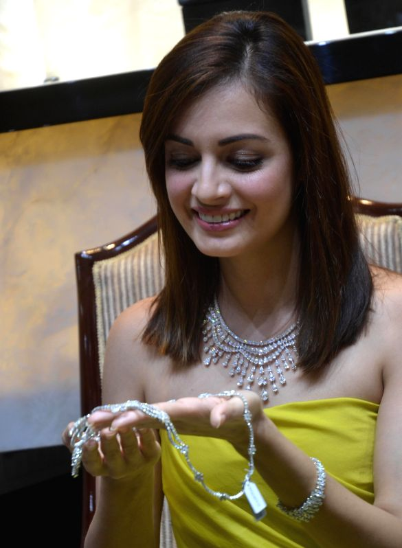 Actress Dia Mirza during the inauguratation of a jewellery store at Richmond Circle, in Bengaluru on Dec. 13, 2014.