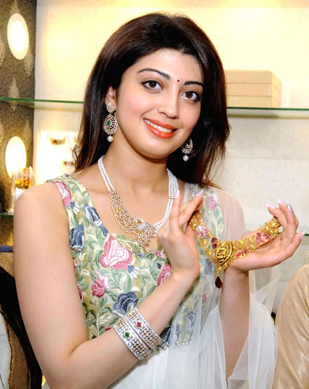Actress Pranitha Subhash during the inauguration of Jewel Exotica 2015, a premium exhibition of jewelry in Bengaluru, on March 28, 2015. - Pranitha Subhash