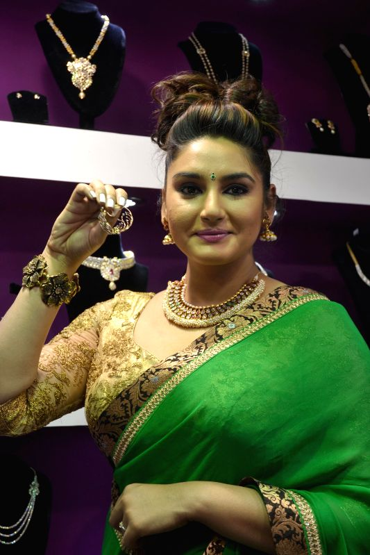 Actress Ragini Dwivedi at a wedding fair in Bengaluru, on Feb 6, 2015.