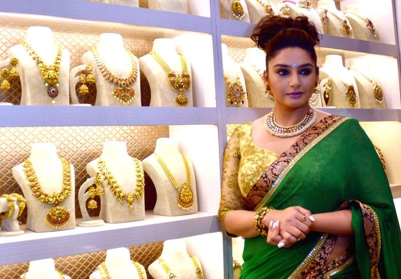 Actress Ragini Dwivedi at a wedding fair in Bengaluru, on Feb 6, 2015.