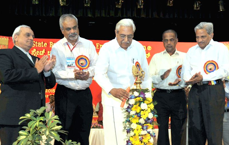 All India Bank Employees Association (AIBEA) General Secretary C.H. Venkatachalam during the 24th triennial conference  of State Bank of Mysore Employees Union in Bengaluru, on March 27, ...