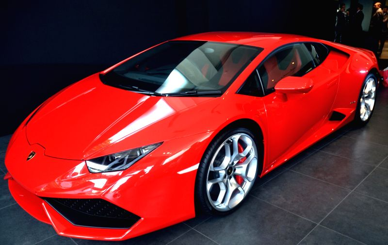 Aventador Coupé LP 700-4 on display during the inauguration of the company`s showroom, in Bengaluru on Nov. 25, 2014.