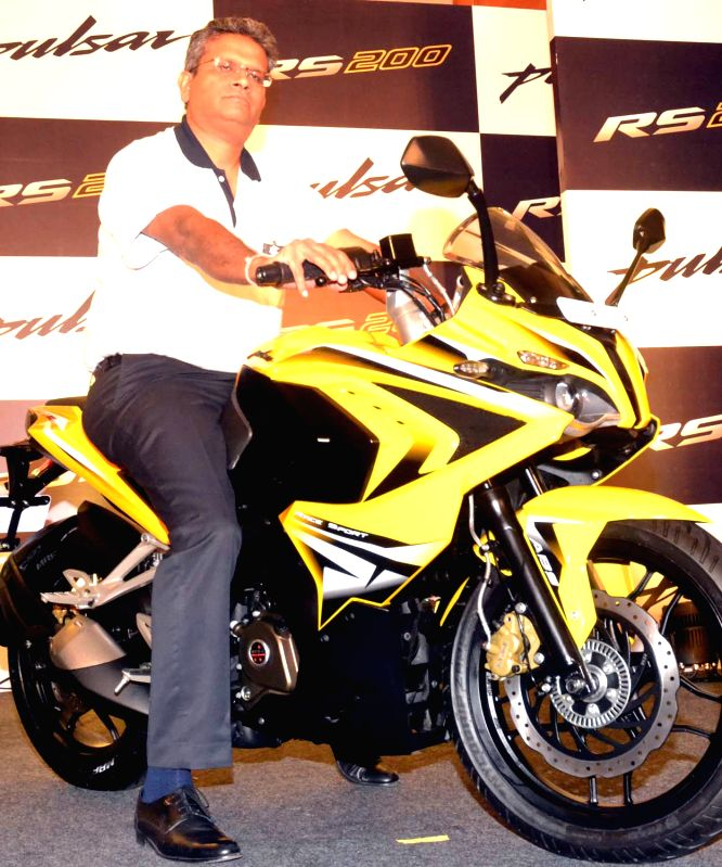 Bajaj Auto General Manager (Sales), Aswin Jaikanth during the launch of new Bajaj Pulsar RS200 in Bengaluru, on March 26, 2015.