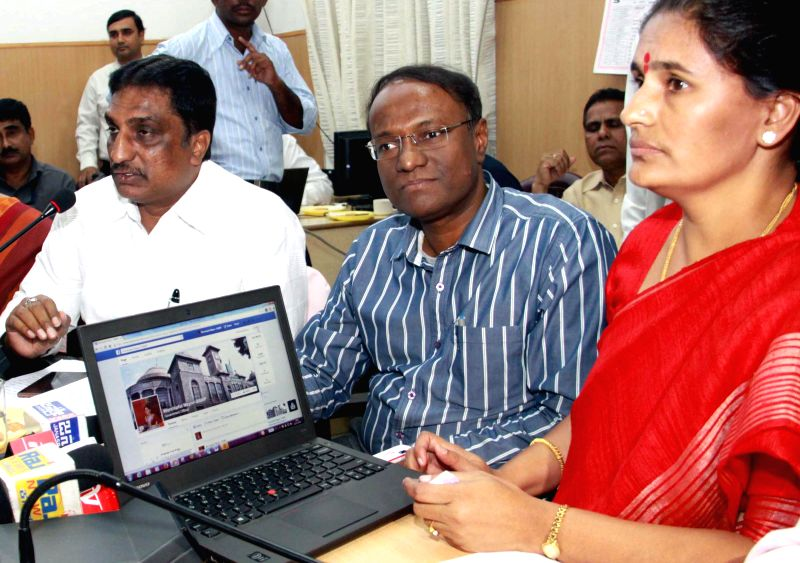 Bangalore Mayor Shanta Kumari launches Mayor's Facebook and Twitter account in Bengaluru, on Dec 22, 2014.