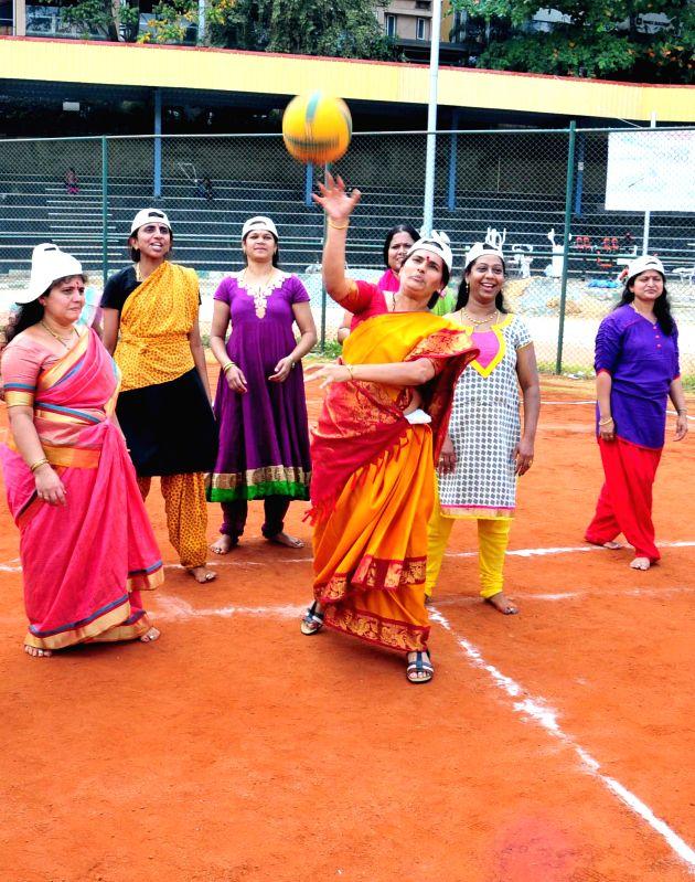 Bangaluru mayor Shanta Kumari during inauguration of BBMP women councilors' sports meet in Bengaluru, on March 2, 2015.