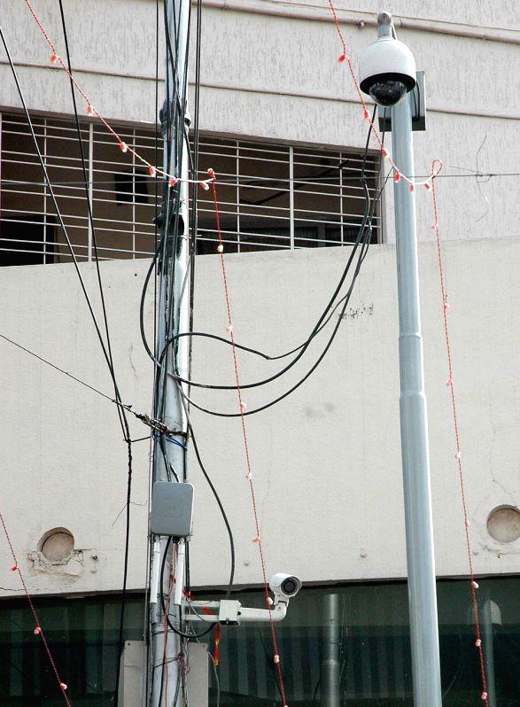 Bengaluru Police installs CCTV cameras at strategic locations to beef-up security in Bengaluru, on Dec 30, 2014.