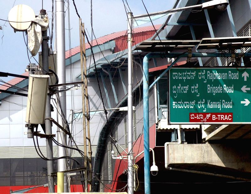 Bengaluru Police installs CCTV cameras at strategic locations to beef-up security in Bengaluru, on Dec 30, 2014.