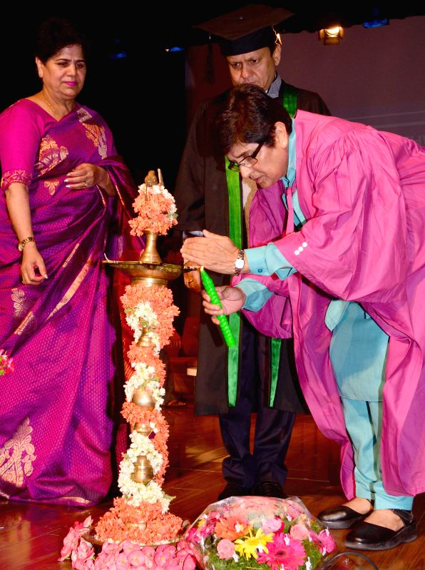 Bharatiya Janata Party (BJP) leader Kiran Bedi during the annual graduation day of IB DP students of Greenwood, in Bengaluru on April 18, 2015.