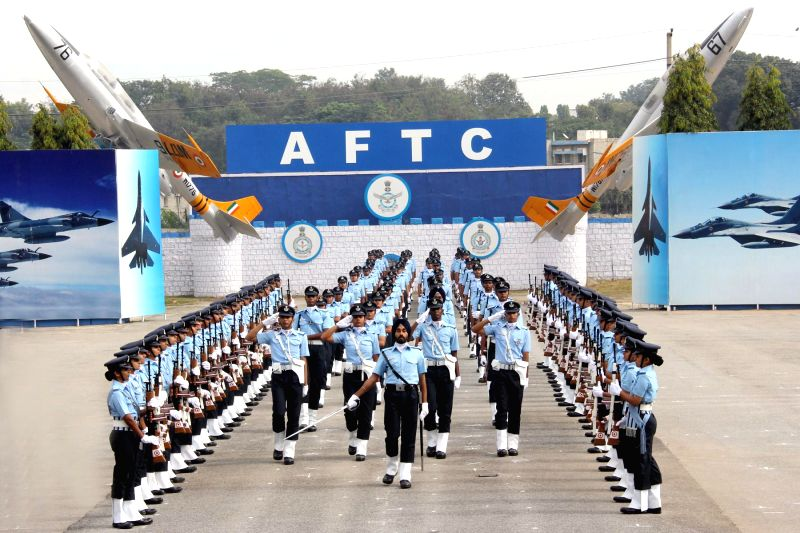 Cadets of Air Force Technical College, Bengaluru during their passing out parade on Nov 28, 2014.