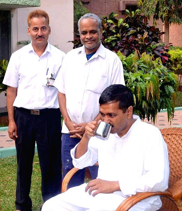 Delhi Chief Minister Arvind Kejriwal during his treatment at the Jindal Naturecure Institute in Bengaluru, on March 14, 2015. - Arvind Kejriwal