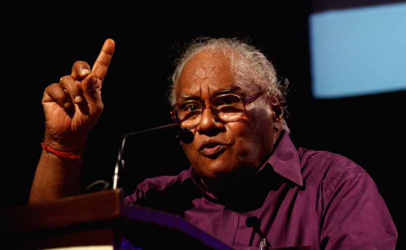 Eminent scientist CNR Rao addresses at the inauguration of the 15th All India People`s Science Congress to 2015 on the theme `science for social change`, in Bengaluru on May 22, 2015.