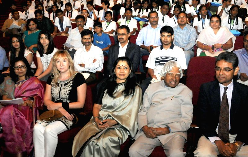 Former President of India Dr. A.P.J. Abdul Kalam at the inauguration of `Parikrama Festival of Science` - a five-day long festival revolving around water in Bengaluru, on Jan 19, 2015.