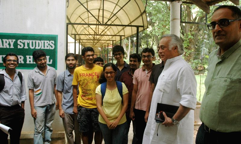 Former Union Minister Jairam Ramesh during a programme at IISC in Bengaluru, on April 25, 2015.