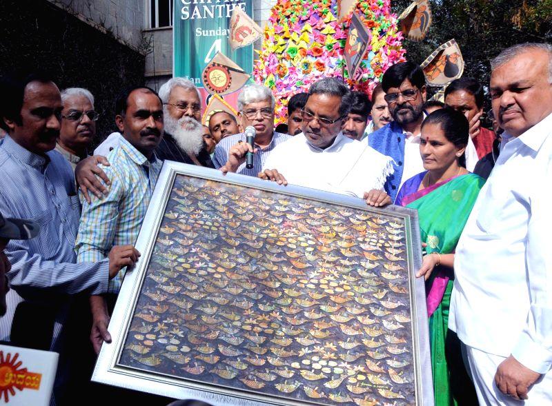 Karnataka Chief Minister Siddaramaiah inaugurates Chitra Sante - 2015 in Bengaluru, on Jan 4, 2015. - Siddaramaiah