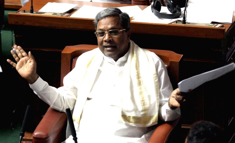 Bengaluru : Karnataka Chief Minister Siddaramaiah addresses during Assembly Session at Vidhana Soudha in Bengaluru on July 18, 2016. - Siddaramaiah