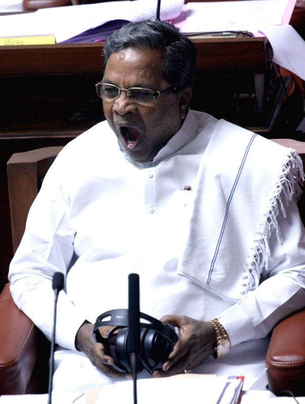 Karnataka Chief Minister Siddaramiah in the state assembly in Bengaluru on March 26, 2015.