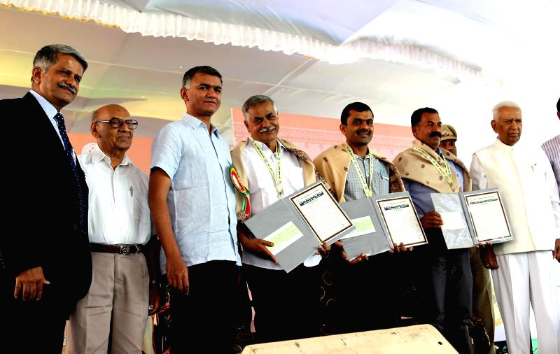Karnataka Governor Vajubhai Vala during the inauguration of Krishi Mela - 2014 organised by University of Agricultural Sciences at Gandhi Krishi Vignayana Kendra (GKVK), in Bengaluru on ...