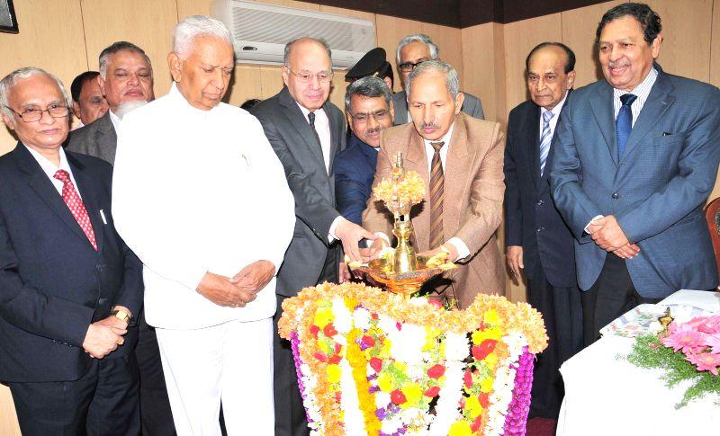 Karnataka Governor Vajubhai Vala during a programme organised on `Lokayukta Day - 2015` at Lokayukta Office, in Bengaluru, on Jan 8, 2015. Also seen Dr. Justice Bhaskar Rao, Lokayukta, ... - Bhaskar Rao
