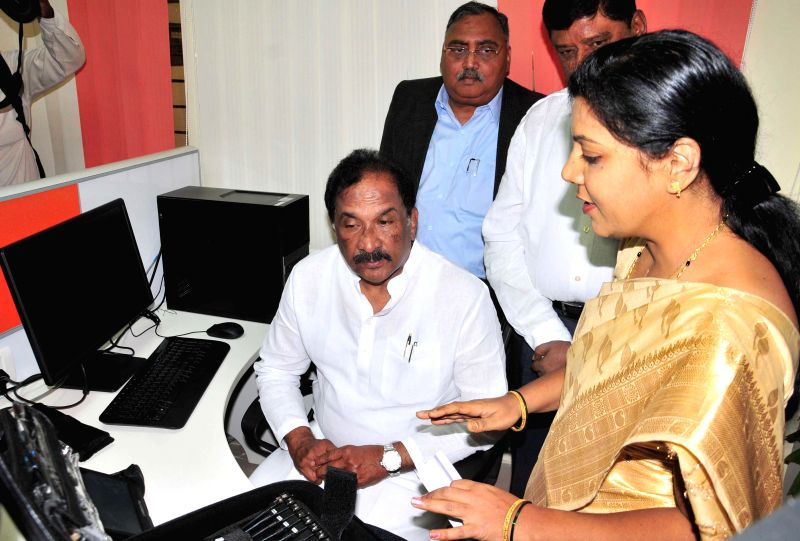 Karnataka Home Minister K J George during the inauguration of a new Cyber Lab at the forensic science lab, in Bengaluru on March 11, 2015. - K J George