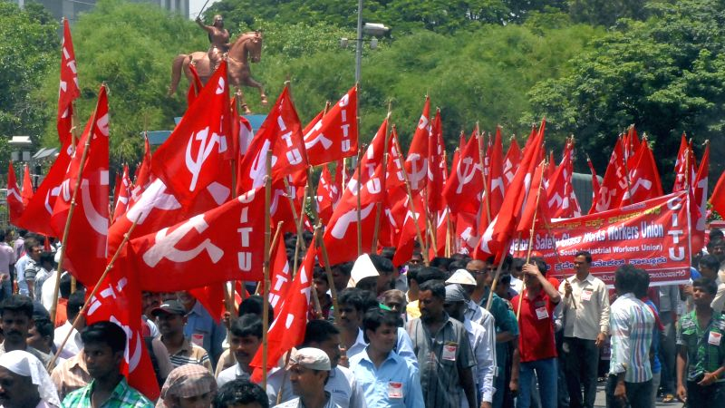Leftists participate in a May Day rally in Bengaluru, on May 1, 2015.