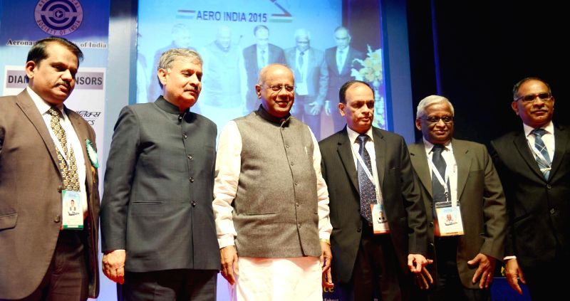 MoS for Heavy Industries and Public Enterprises, G M Siddeshwara and Scientist and DG (Aero), Dr K Tamilmani, CMD Bharat Electronics Limited, S K Sharma, CMD Hinduatan Aeronautics Limited, - S K Sharma