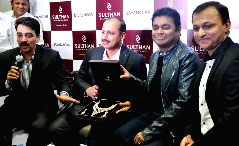 Bengaluru : Music Director AR Rehman during inauguration of a jewellery show room in Bengaluru on Feb. 1, 2015.