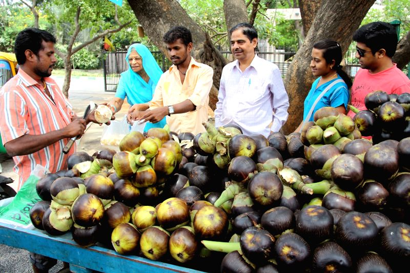 People buy palm fruit as summers approach in Bengaluru, on April 6, 2015.