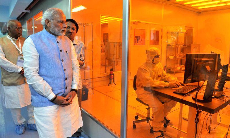 Prime Minister Narendra Modi visits the Indian Institute of Science, in Bengaluru on Feb 18, 2015. - Narendra Modi