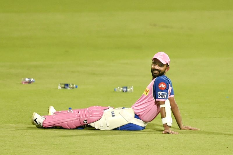 Bengaluru: Rajasthan Royals' Ajinkya Rahane during a practice session at Chinnaswamy Stadium, in Bengaluru, on April 29, 2019. (Photo: IANS)
