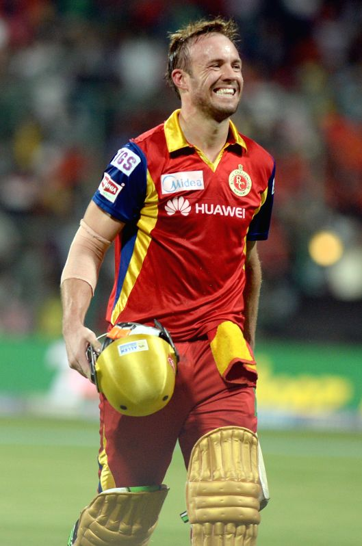 Royal Challengers Bangalore batsman AB de Villiers walks back to the pavilion during an IPL-2015 match between Royal Challengers Bangalore and Rajasthan Royals at M Chinnaswamy Stadium in ...