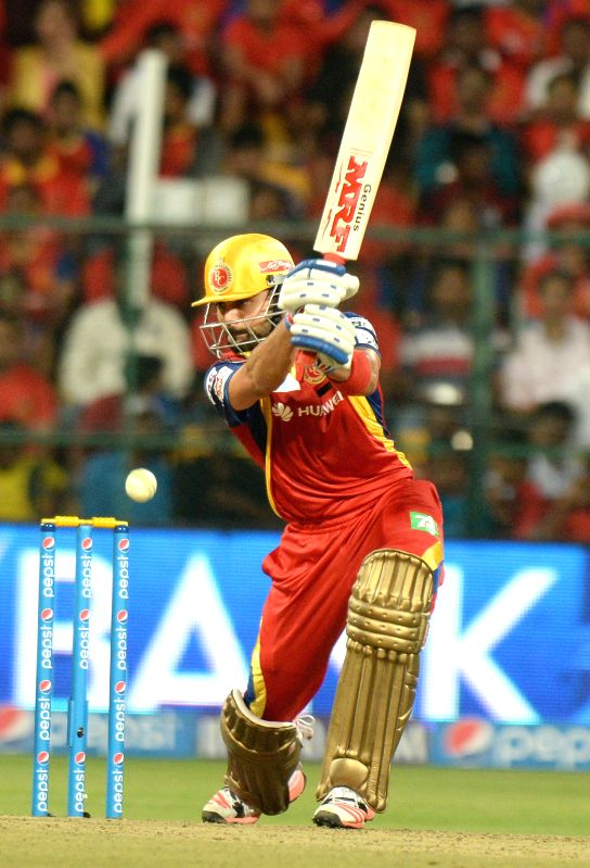 Royal Challengers Bangalore captain Virat Kohli in action during an IPL-2015 match between Royal Challengers Bangalore and Chennai Super Kings at M Chinnaswamy Stadium, in Bengaluru, on ... - Virat Kohli