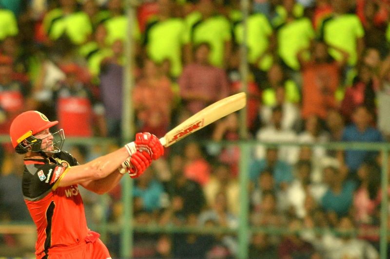 Bengaluru: Royal Challengers Bangalore's AB de Villiers in action during the 42nd match of IPL 2019 between Royal Challengers Bangalore and Kings XI Punjab at M.Chinnaswamy Stadium in Bengaluru, on April 24, 2019. (Photo: IANS)