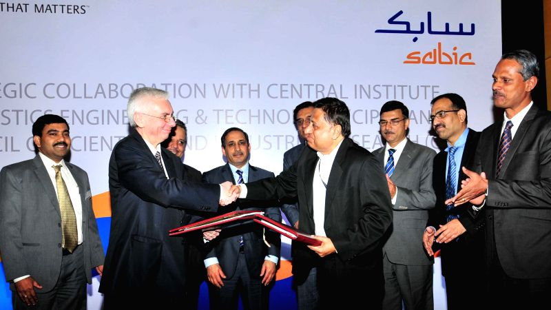 Saudi Ambassador to India H.E. Saud Mohammad Al-Sati during a programme organised to announce Strategic Research Collaboration between Saudi Basic Industries Corp (SABIC) and Central ...