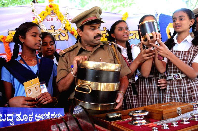 School students during a programme organised on National Consumers Day,in Bengaluru on Dec 24, 2014.