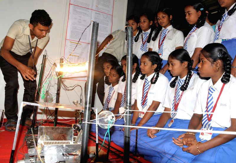 Students during `Science and Engineering Fair 2015` in Bengaluru on Feb 26, 2015.