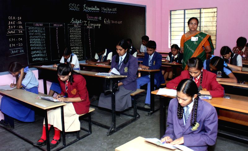 Students during their board exams in Bengaluru on March 30, 2015.