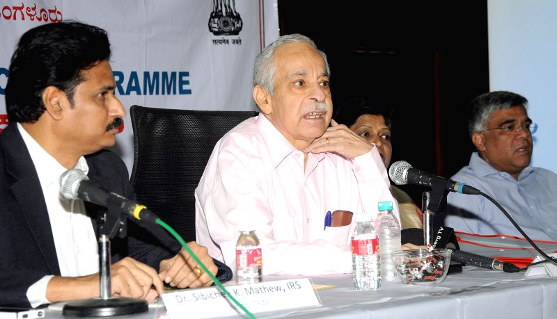 Telecom Regulatory Authority of India (Trai) Chairman, Rahul Khullar during a press conference at BSNL office, in Bengaluru on March 30, 2015.
