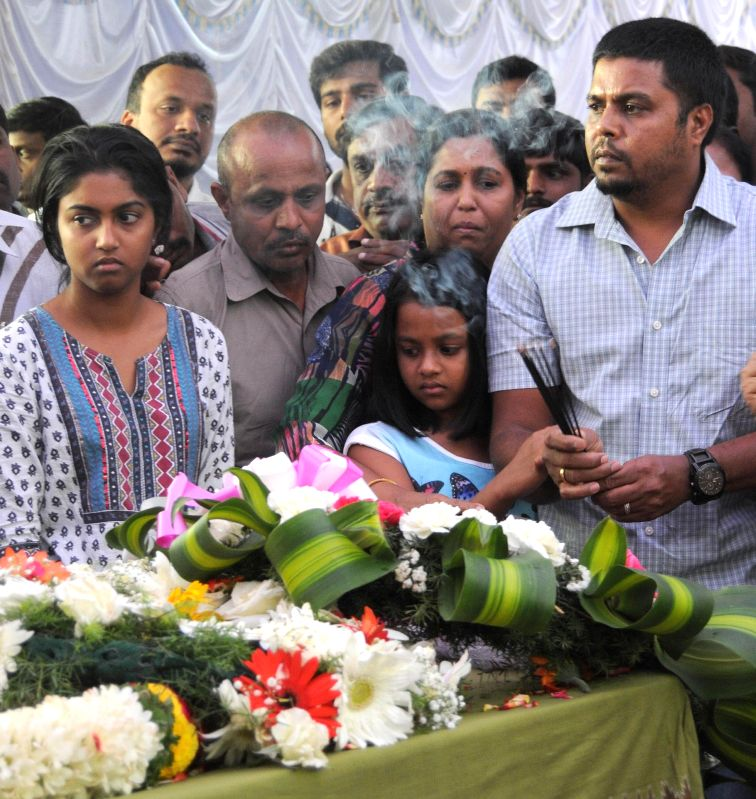 The husband and the daughter of 41-year-old Prabha Arun Kumar, an Indian woman IT consultant, employed with Bengaluru-based tech firm MindTree, who was stabbed to death while she was ... - Prabha Arun Kumar