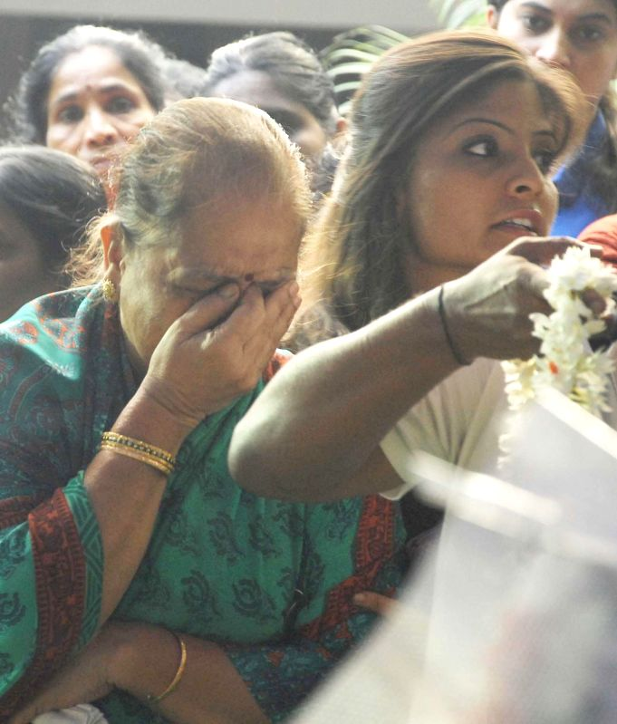 The relatives of 41-year-old Prabha Arun Kumar, an Indian woman IT consultant, employed with Bengaluru-based tech firm MindTree, who was stabbed to death while she was walking home from ... - Prabha Arun Kumar