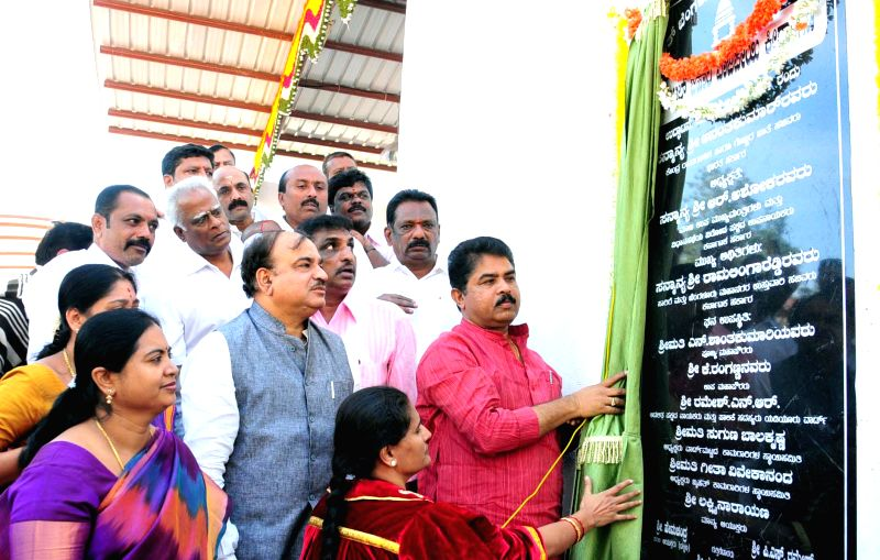 Union Chemicals and Fertilizer Minister Ananth Kumar at the inauguration of Atal Bihari outdoor Grounds at Yediur in Bengaluru, on Dec 26, 2014.