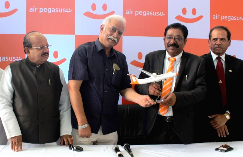 Union Civil Aviation Minister Ashok Gajapathi Raju during a programme organised to mark the commencement of Air Pegasus' operations in Bengaluru, April 12, 2015. - Ashok Gajapathi Raju