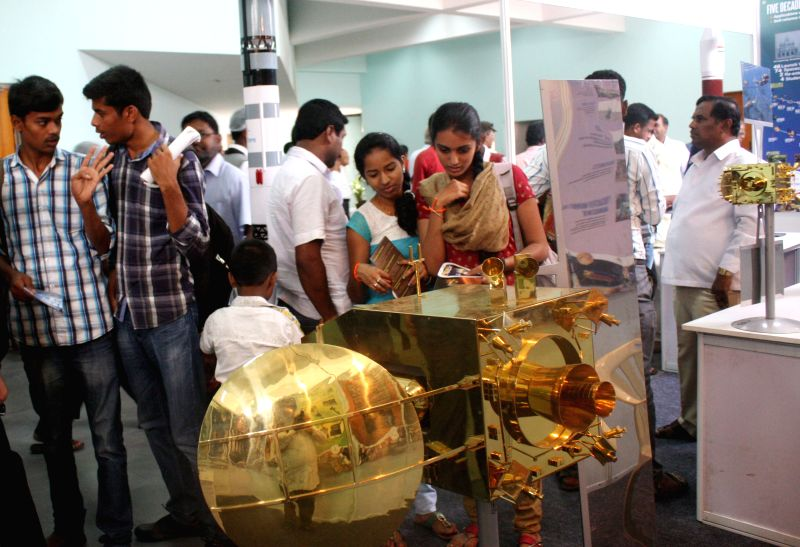 Visitors at the inauguration of the 15th All India People`s Science Congress to 2015 on the theme `science for social change`, in Bengaluru on May 22, 2015.