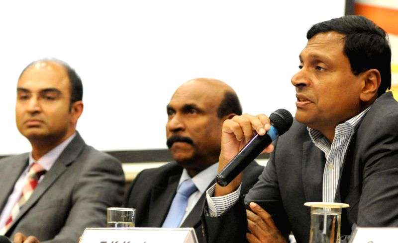 Wipro CEO T K Kurien addresses a press conference regarding  third quarter results of the company in Bengaluru, on Jan 16, 2015.