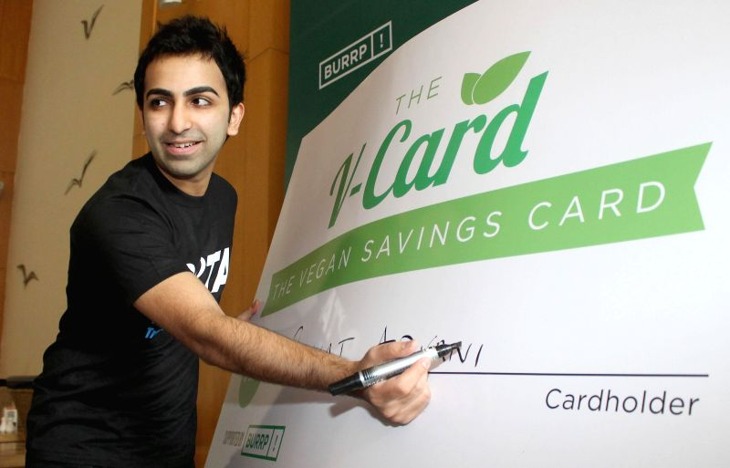 World Billiards Champion Pankaj Advani at the Launch of PETAs V Card in Bengaluru, on Nov 12, 2014.