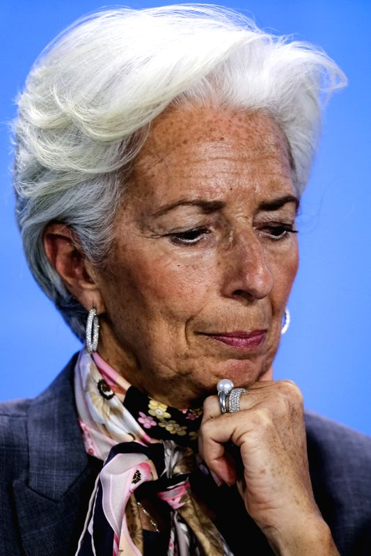 BERLIN, April 5, 2016 - Christine Lagarde, Managing Director of the International Monetary Fund attends a joint press conference in Berlin, Germany, on April 5, 2016. Leaders of several international ...