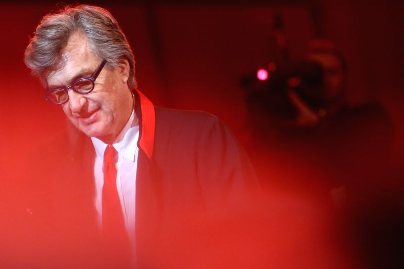 German director Wim Wenders attends the award ceremony for the Honorary Golden Bear Award at the 65th Berlinale International Film Festival in Berlin, Germany, on ...
