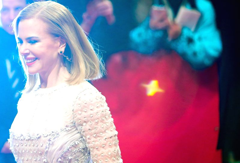 """Nicole Kidman arrives at the red carpet for the movie """"Queen of the Desert"""" at the 65th Berlinale International Film Festival in Berlin, Germany, on Feb. 6,"""